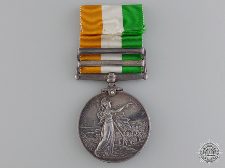 """Silver Medal (with """"SOUTH AFRICA 1901"""" and """"SOUTH AFRICA 1902"""" clasps) Reverse"""