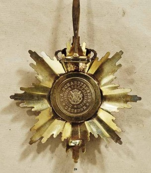 Albert Order, Type II, Civil Division, Golden Grand Cross Breast Star (with silver crown, 1903-1918)