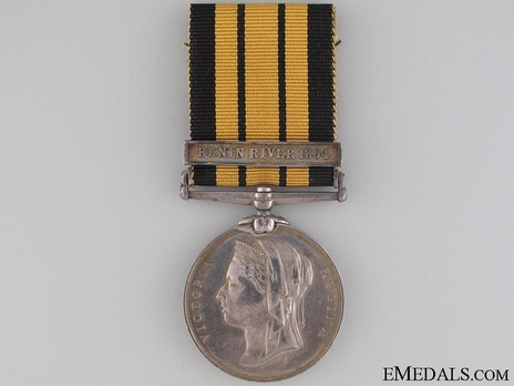 "Silver Medal (with ""BENIN RIVER 1894"" clasp) Obverse"