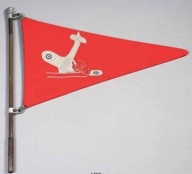 Shooting Down Pennant of Air District XI (for Flak units) Reverse