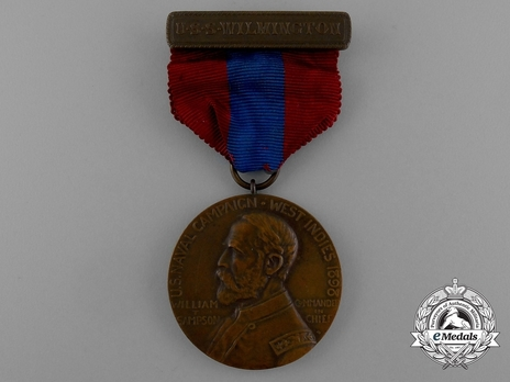 West Indies Campaign Medal (for U.S.S. Wilmington) Obverse