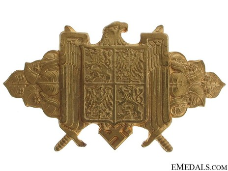 Achievement Badge of the Governmental Troops of the Protectorate Bohemia and Moravia, in Gold Obverse