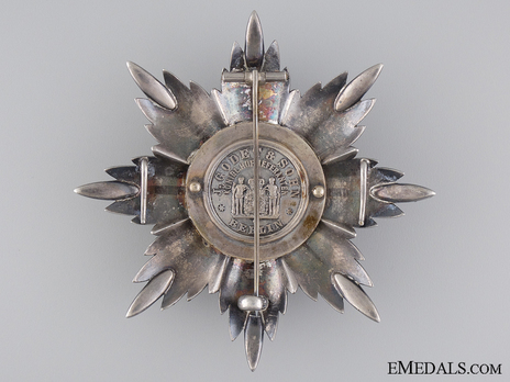 Order of Osmania, Civil Division, I Class Breast Star Reverse