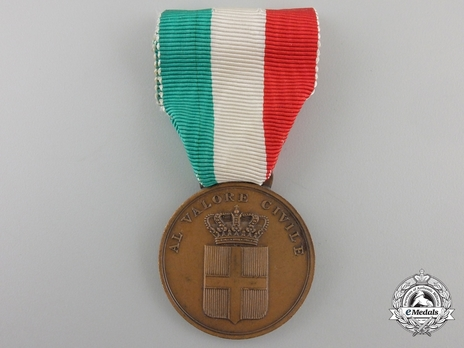 Medal of Civil Valour, in Bronze Obverse