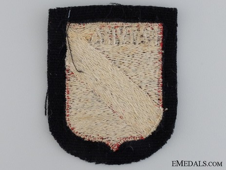 Waffen-SS Latvian Volunteer Arm Shield Reverse