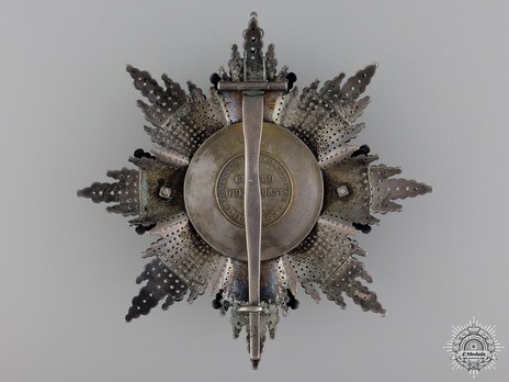 Grand Cross Breast Star (Silver/Gold by Eduard Quellhorst) Reverse