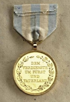 Merit Order of the Bavarian Crown, Gold Medal