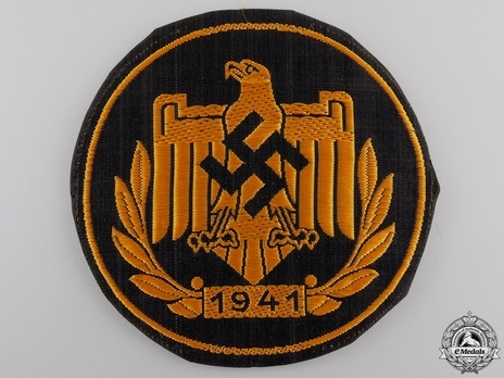 Badge of the DRL and NSRL, in Bronze (in cloth with date) Obverse