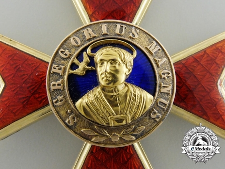 Order of St. Gregory the Great Grand Officer (Civil Division) (with gold) Obverse Detail