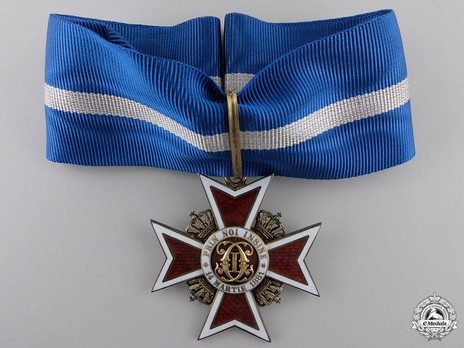 Order of the Romanian Crown, Type II, Civil Division, Grand Officer's Cross Obverse