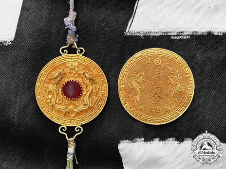 Order of the Imperial Dragon, I Class Obverse
