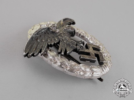 Observer Badge, by C. E. Juncker (in aluminum) Obverse
