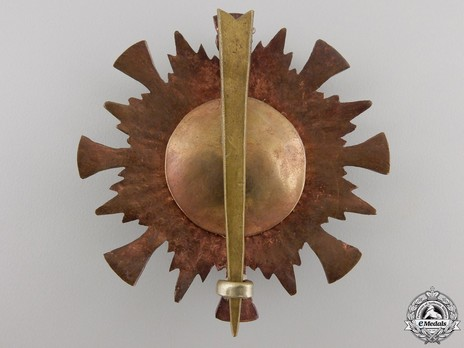 Order of the Star of Nepal, I Class Breast Star Reverse