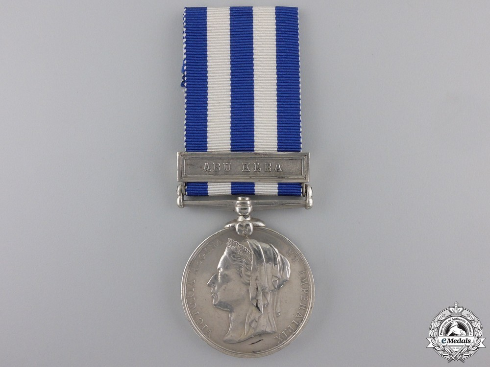 Silver medal with abu klea clasp obverse