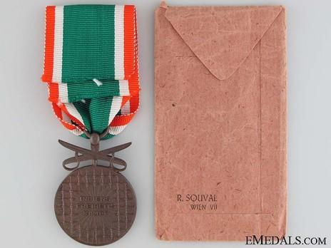 Bronze Medal with Swords Reverse