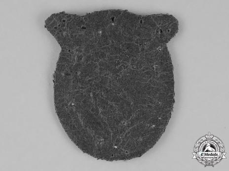 Ground Assault Badge, in Cloth (in bullion) Reverse