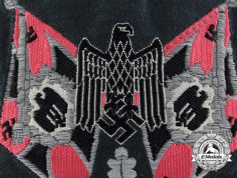 German Army Standard Bearer Arm Shield (Panzer version) Obverse Detail