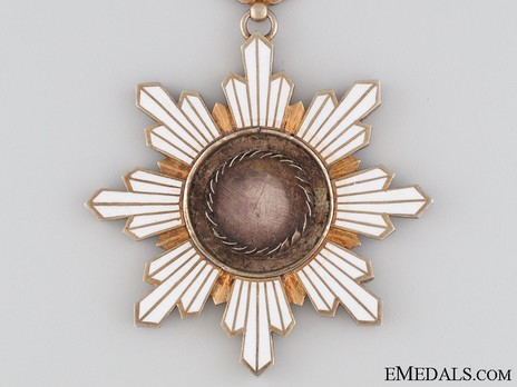 Order of the Golden Grain, I Class Sash Badge Obverse