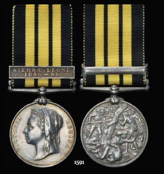 "East and West Africa Medal, Silver Medal (with ""SIERRA LEONE 1898-9"" clasp)"