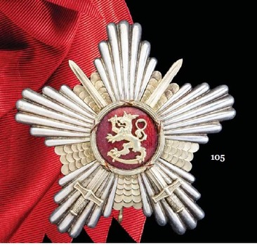 Order of the Lion of Finland, Military Division, Commander Grand Cross Breast Star