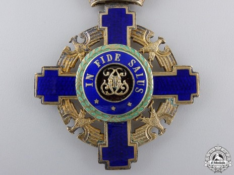 The Order of the Star of Romania, Type II, Civil Division, Commander's Cross Obverse