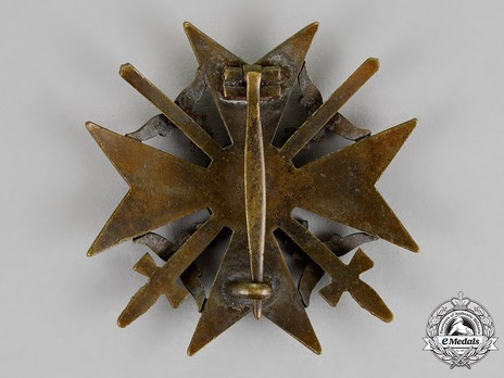 Spanish Cross in Bronze with Swords Reverse