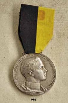 "Duke Carl Eduard Medal, Type I, in Small Silver (stamped ""MAX V KAWACZYNSKI"")"