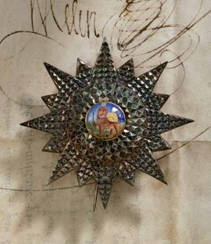 Order of the Lion and Sun, Type III, I Class Breast Star (with statant lion)