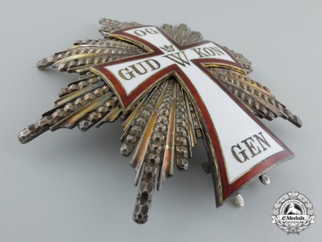 Order of Dannebrog, Grand Cross Breast Star (Silver/Silver gilt)  Obverse
