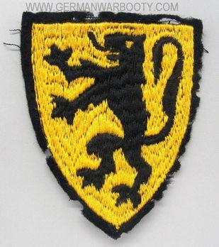 Waffen-SS Flemish Volunteer Arm Shield (1st pattern) Obverse