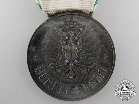 Italian Red Cross Medal of Merit, in Silver Reverse