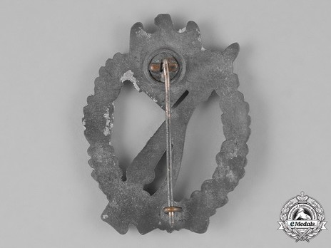Infantry Assault Badge, by H. Aurich (in silver) Reverse