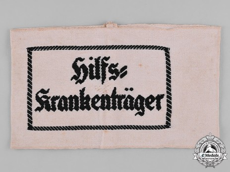 German Army Auxiliary Stretcher Bearer Armband Obverse