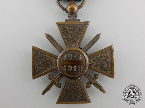 Bronze Cross (1914-1918) Reverse