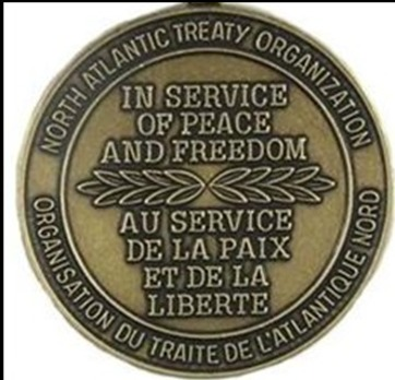 """Bronze Medal (for Afghanistan, with """"ISAF"""" clasp)  Reverse"""