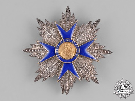 Order of Our Lady of Bethlehem, Grand Officer Breast Star Obverse