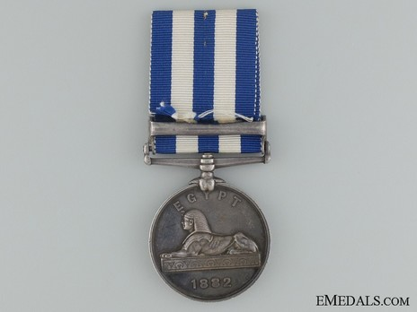 "Silver Medal (with ""ALEXANDRIA 11TH JULY"" clasp) Reverse"