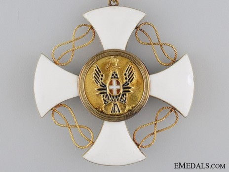 Order of the Crown of Italy, Grand Officer's Cross Reverse