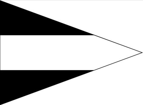 German Army Staff Flag for Battalions (Engineer version) Obverse