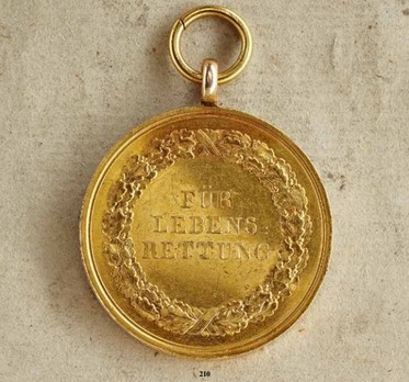 """Life Saving Medal, Type III, in Gold (stamped """"C.ULBRICHT FEC."""")"""