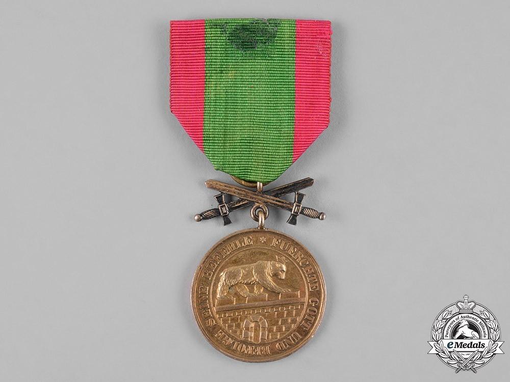 Order+of+albert+the+bear%2c+gold+medal+of+merit+with+swords+%28in+bronze+gilt%29+1