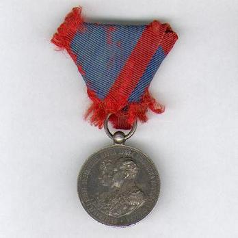 """Prince Ferdinand's Wedding Medal, in Silver (stamped """"A.SCHARFF"""") Obverse"""