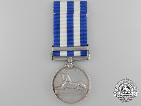 "Silver Medal (with ""THE NILE 1884-85"" clasp) Reverse"