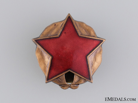 Order of the Partisan Star, III Class Obverse