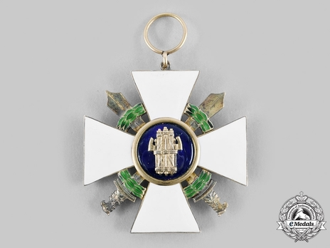 Order of the Roman Eagle, Grand Cross, in Silver (with wreath) Reverse