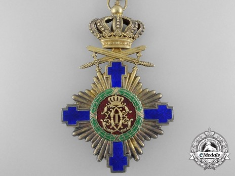 The Order of the Star of Romania, Type I, Military Division, Grand Officer's Cross Reverse