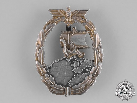 Naval Auxiliary Cruiser War Badge, by Unknown Maker: Japanese Design (in silver) Obverse