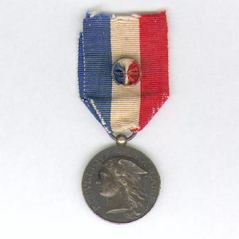 """Silver Medal (Ministry of the Interior, stamped """"H.PONSCARME,"""" 1889-1921) Obverse"""