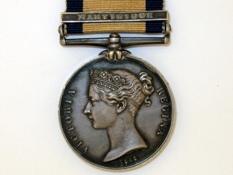 "Silver Medal (with ""MARTINIQUE"" clasp) Obverse"