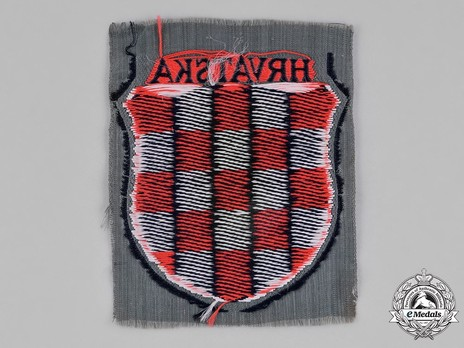 German Army Croatia Sleeve Insignia (1st version) Reverse